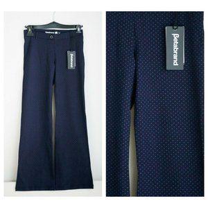 BetaBrand Navy Blue Fine Polka Dot Pants
